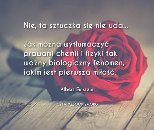 Albert Einstein cytat o pierwszej miłości
