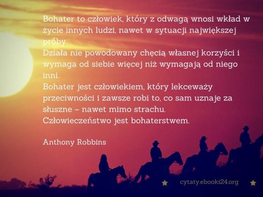 Anthony Robbins cytat o bohaterstwie