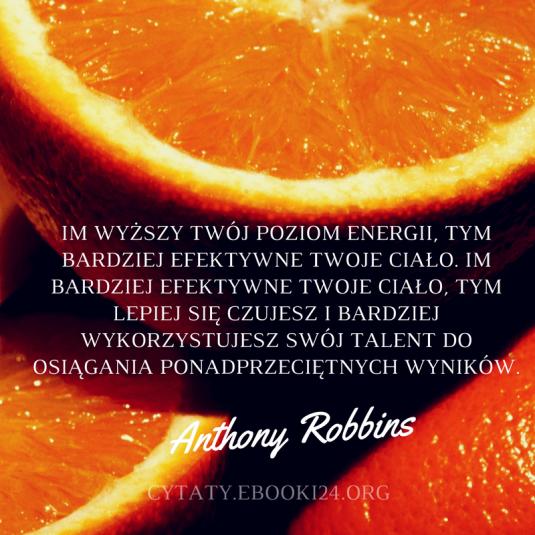 Anthony Robbins cytat o efektywności i ponadprzeciętnych wynikach
