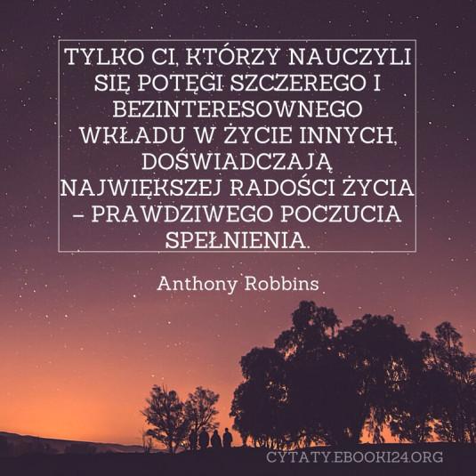 Anthony Robbins cytat o radości życia