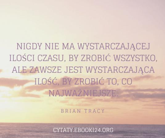 Brian Tracy cytat o czasie