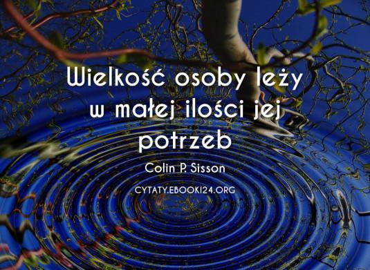 Colin P. Sisson cytat o wielkości