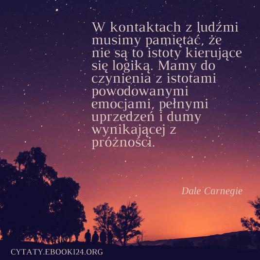 Dale Carnegie cytat o kontaktach z ludźmi