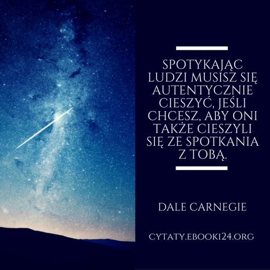 Dale Carnegie cytat o radości