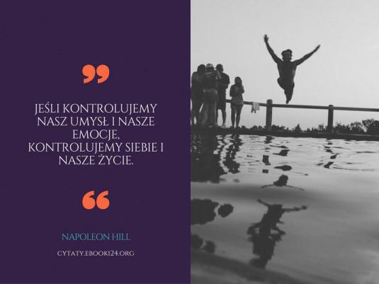 Napoleon Hill cytat o umyśle i emocjach