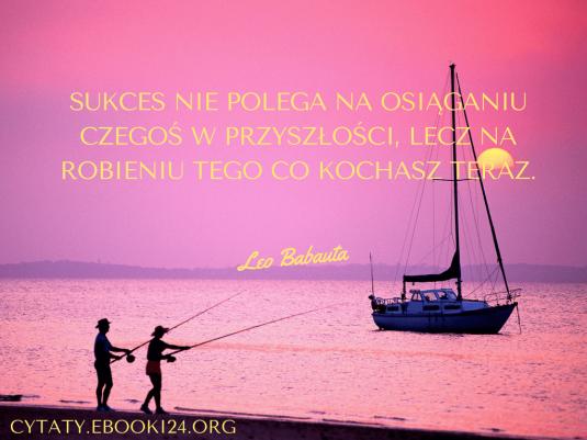 Leo Babauta cytat o sukcesie