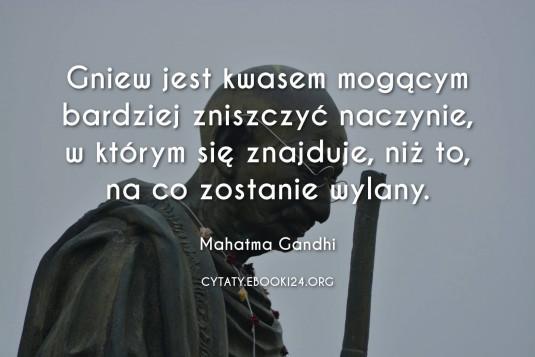 Mahatma Gandhi cytat o gniewie