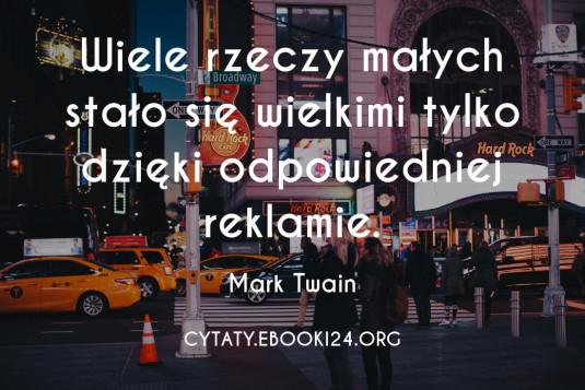 Mark Twain cytat o reklamie