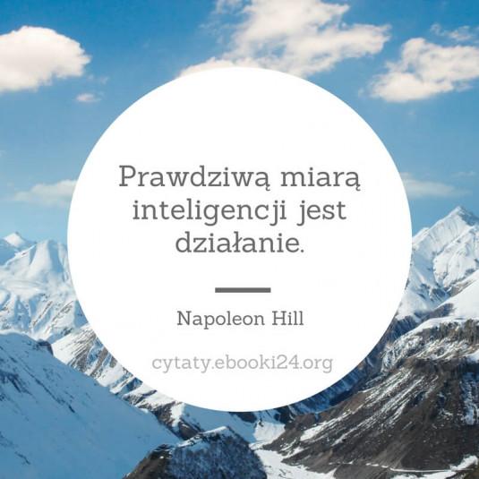 Napoleon Hill cytat o inteligencji i działaniu