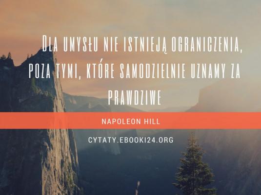 Napoleon Hill cytat o umyśle i ograniczeniach