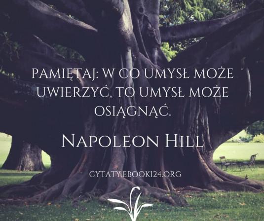 Napoleon Hill cytat o wierze i umyśle