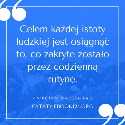 Nikodem Marszałek cytat o celach