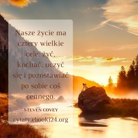 Steven Covey cytat o celu w życiu