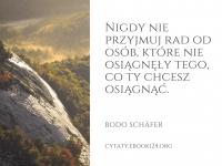 Bodo Schäfer cytat o przyjmowaniu rad