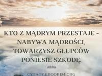 Cytat z Biblii o mądrości i głupocie