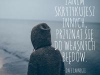 Dale Carnegie cytat o krytykowaniu innych