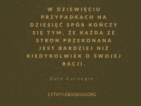 Dale Carnegie cytat o sporze i racji