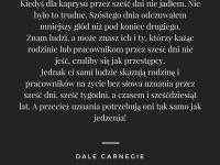 Dale Carnegie cytat o uznaniu