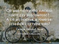 George Bernard Shaw cytat o talencie i pracowitości