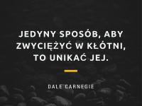 Dale Carnegie cytat o kłótni