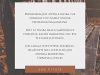 Joe Vitale cytat o problemach i sukcesie