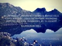 Napoleon Hill cytat o zwycięstwie i celach