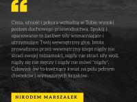 Nikodem Marszałek cytat o duchowym przewodnictwie