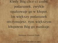Norman Vincent Peale cytat o podarunkach od Boga