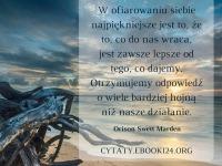 Orison Swett Marden cytat o dawaniu i otrzymywaniu