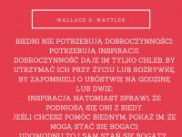 Wallace D. Wattles cytat o tym czego potrzebują biedni