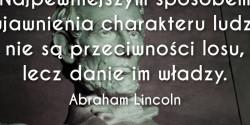 Abraham Lincoln cytat o charakterze