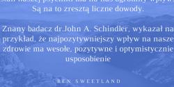 Ben Sweetland cytat o pozytywnym usposobieniu
