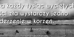 Henri David Thoreau cytat na temat zła