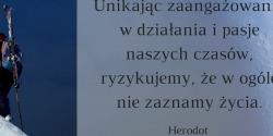 Herodot cytat o działaniu i pasji.