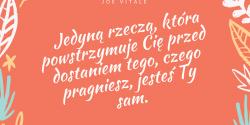 Joe Vitale cytat o przeszkodach