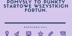 Napoleon Hill cytat o pomysłach